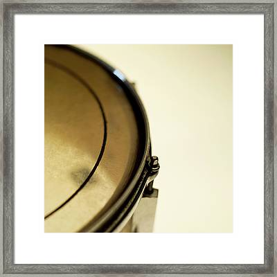 Snare Drum, Close-up And Cropped Framed Print by Stockbyte