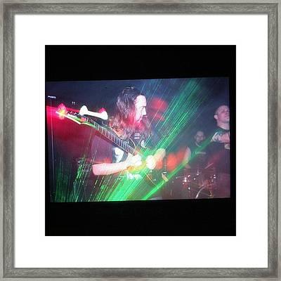 Sneak Peek At The Turbulence Gig! #rock Framed Print