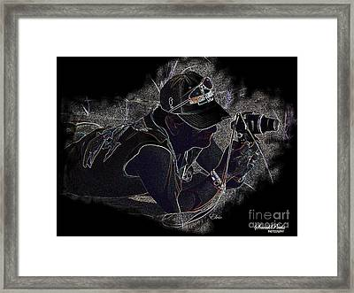 Sneak Peeks Framed Print by Laurence Oliver