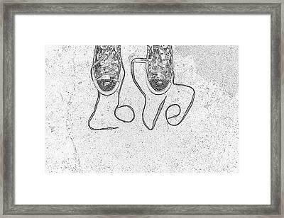 Sneaker Love 2 Framed Print by Paul Ward