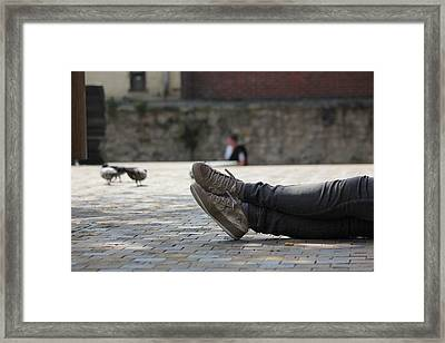Framed Print featuring the photograph Sneakers by Rdr Creative