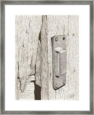Sneck Framed Print by Pat Price