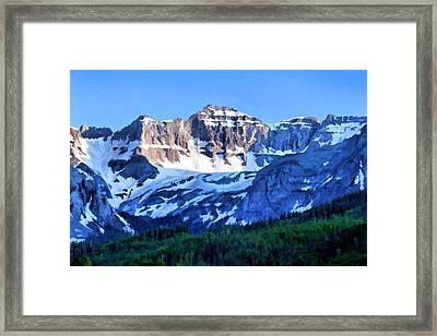 Framed Print featuring the digital art Sneffels Range Evening by Brian Davis