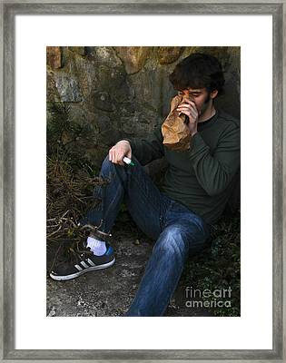 Sniffing Glue Framed Print by Photo Researchers, Inc.
