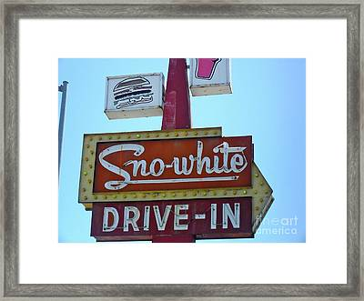 Framed Print featuring the photograph Sno-white by Beth Saffer