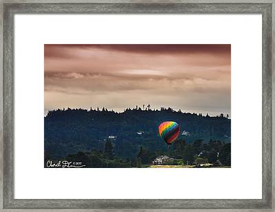 Snohomish Baloon Ride Framed Print