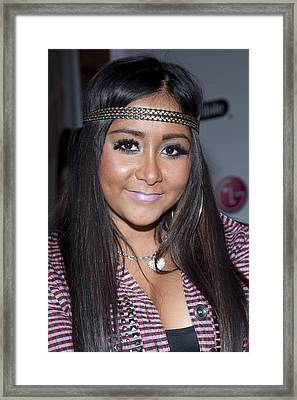 Snooki Nicole Polizzi At A Public Framed Print