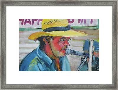 Framed Print featuring the painting Snopek by Les Leffingwell