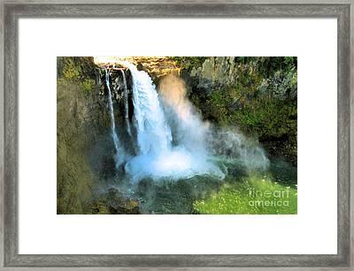 Snoqualmie Falls 2 Framed Print by John Krakora