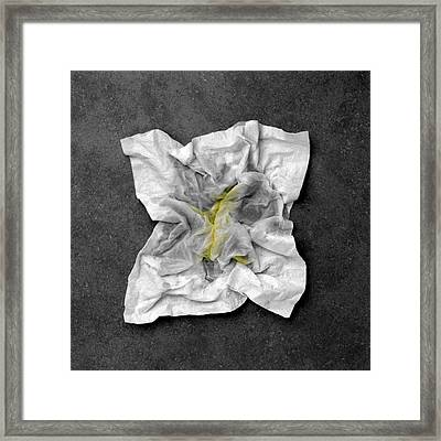 Snotty Tissue Framed Print by Kevin Curtis