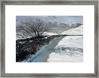 Snow Above Barbondale - Barbon Framed Print by John Cooke