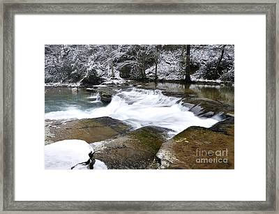 Snow Along The Back Fork Of Elk River Framed Print by Thomas R Fletcher