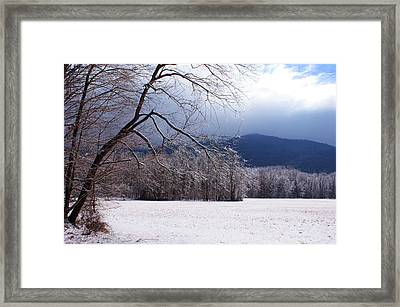 Framed Print featuring the photograph Snow And Ice by Paul Mashburn