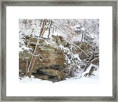 Snow And Sandstone Framed Print