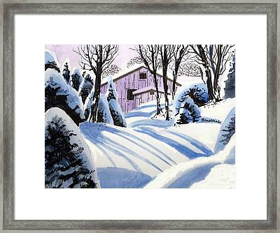 Framed Print featuring the painting Snow And Shadows by Terry Banderas