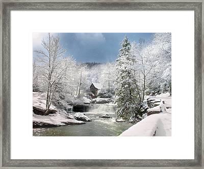 Snow At Babcock State Park Framed Print