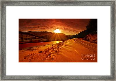 Snow At Derwent Framed Print by Nigel Hatton
