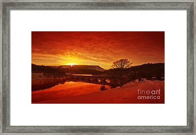 Snow At Ladybower Framed Print by Nigel Hatton