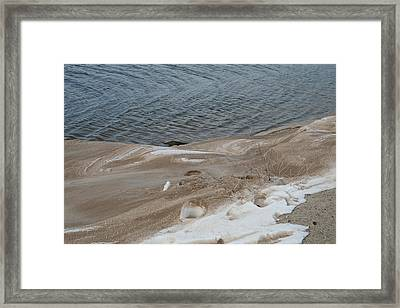 Snow At The Beach Framed Print