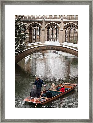 Framed Print featuring the photograph Snow Ball Fight by Andrew  Michael