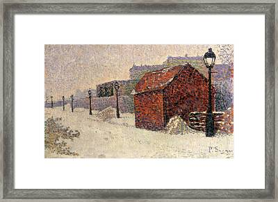 Snow Butte Montmartre Framed Print by Paul Signac