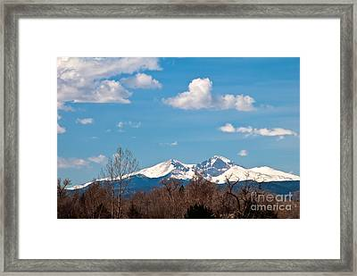 Snow-capped Mountain Majesties Framed Print by Harry Strharsky