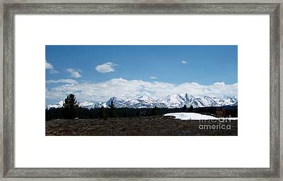 Snow Caps  Framed Print by The Kepharts