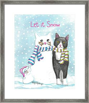 Snow Cats Framed Print by Terry Taylor