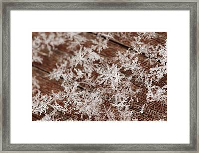 Snow Close Up Framed Print