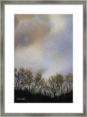 Snow Coming Framed Print