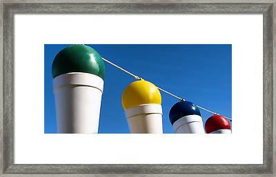 Snow Cones On A Rope Framed Print by Tony Grider