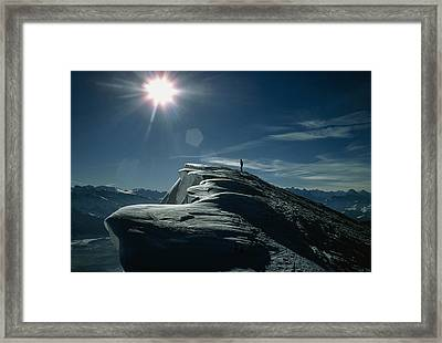 Snow Cornices Framed Print by Dr Juerg Alean