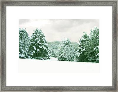 Framed Print featuring the photograph Snow Covered Countryside by Michael Waters