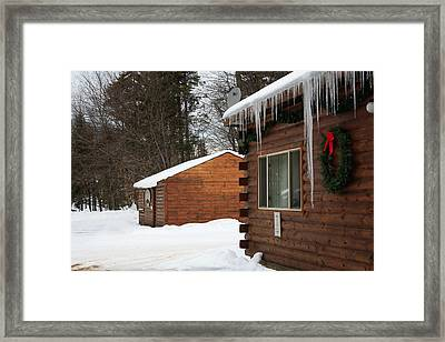 Framed Print featuring the photograph Snow Covered General Store by Ann Murphy