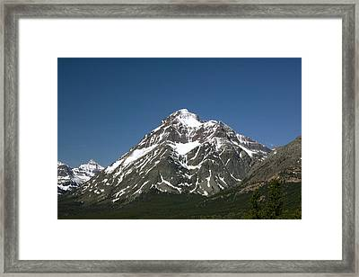Snow Covered Mountain Framed Print by Amanda Kiplinger