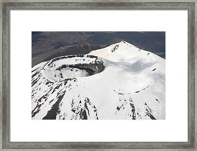 Snow-covered Ngauruhoe Cone, Mount Framed Print by Richard Roscoe