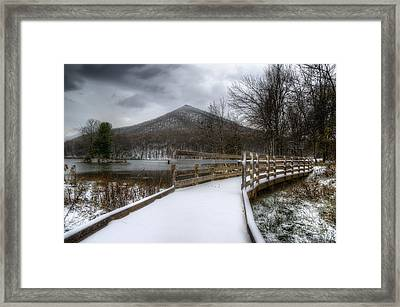 Snow Covered Pathway 3 Framed Print by Steve Hurt