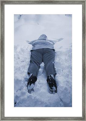 Snow Day Framed Print by Paula Greenlee