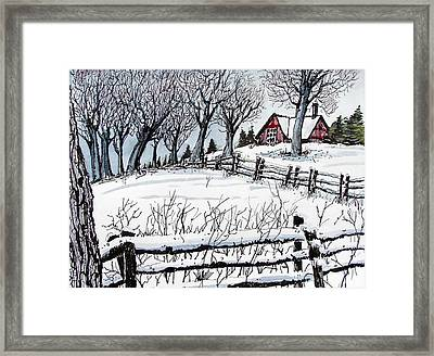 Framed Print featuring the painting Snow Field by Terry Banderas