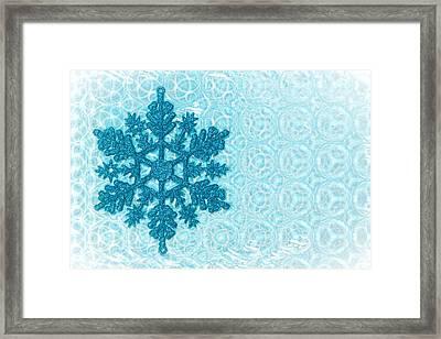 Snow Flake Framed Print by Tom Gowanlock