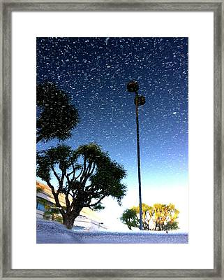 Framed Print featuring the photograph Snow In August by Kevin Bergen