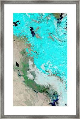 Snow In Iraq Framed Print by Nasa