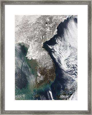 Snow In Korea Framed Print
