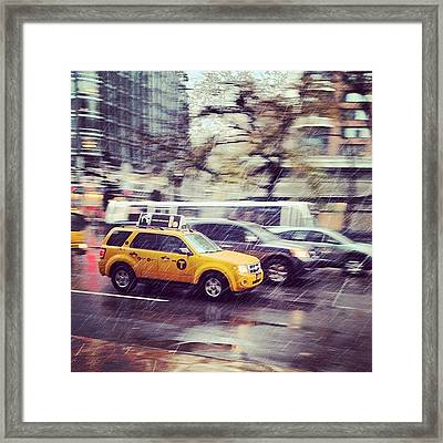 Snow In Nyc Framed Print
