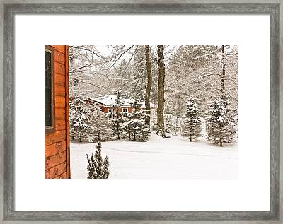 Snow In The Adirondacks Framed Print by Ann Murphy