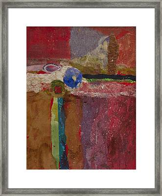 Snow In The Desert Framed Print