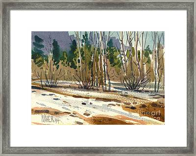 Snow Melt Framed Print by Donald Maier