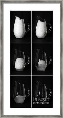 Snow Melting Framed Print by Ted Kinsman
