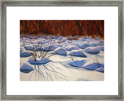 Snow Mounds Framed Print by Daydre Hamilton