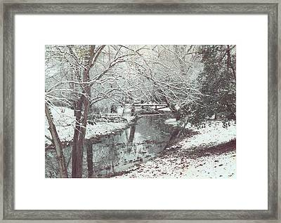 Framed Print featuring the photograph Snow On The Bayou by Louis Nugent